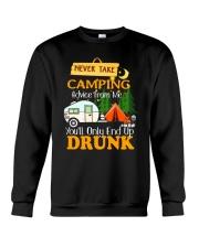 TAKE CAMPING DRUNK Crewneck Sweatshirt thumbnail