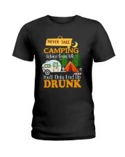 TAKE CAMPING DRUNK Ladies T-Shirt thumbnail