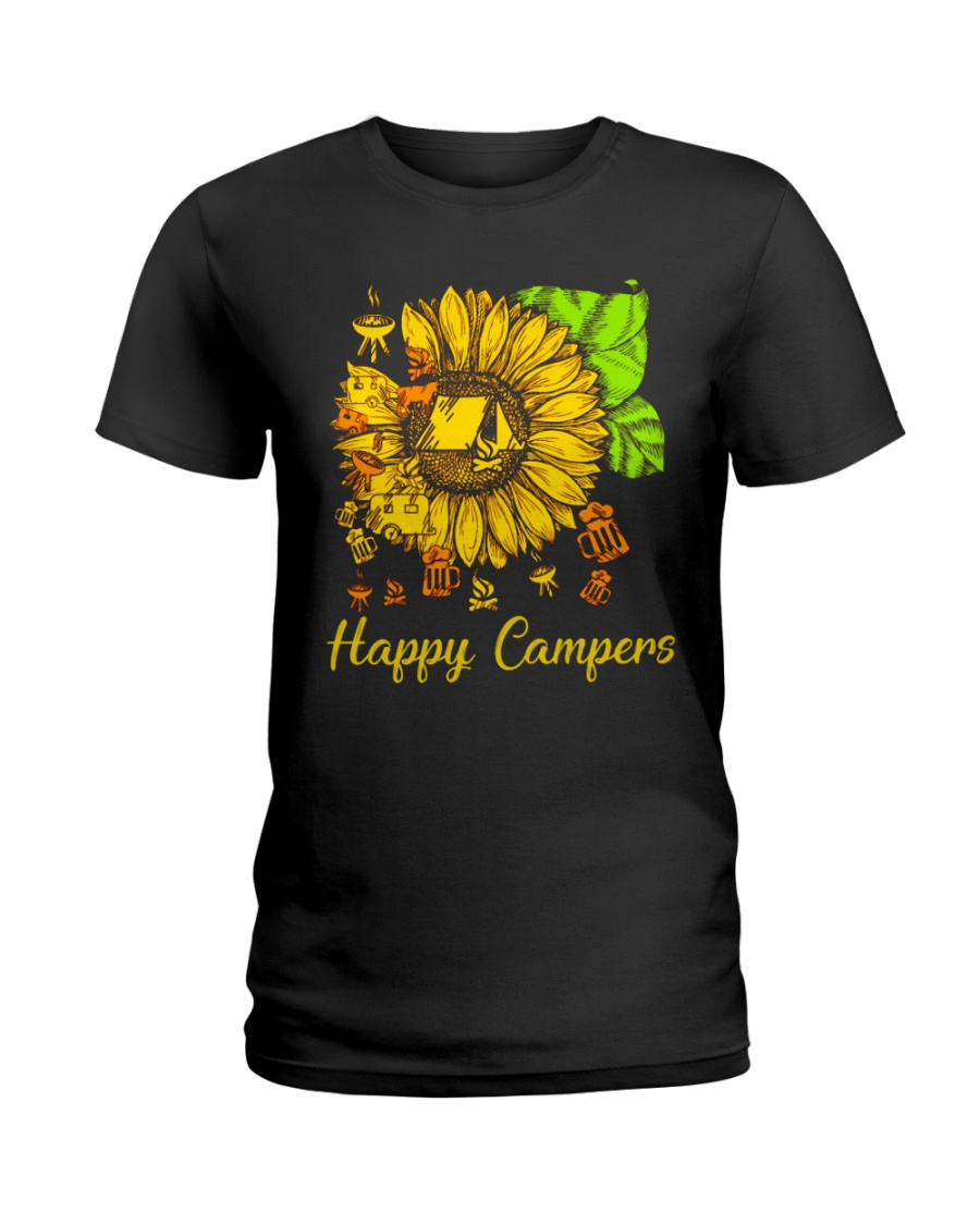 SUNFLOWER HAPPY CAMPERS Ladies T-Shirt