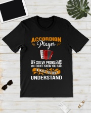ACCORDION PLAYER SOLVE PROBLEMS Classic T-Shirt lifestyle-mens-crewneck-front-17
