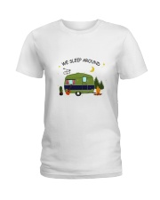 CAMPING SLEEP AROUND Ladies T-Shirt thumbnail