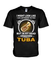 IN MY HEART TUBA V-Neck T-Shirt thumbnail
