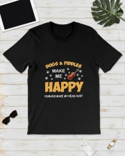 DOGS FIDDLES HAPPY Classic T-Shirt lifestyle-mens-crewneck-front-17