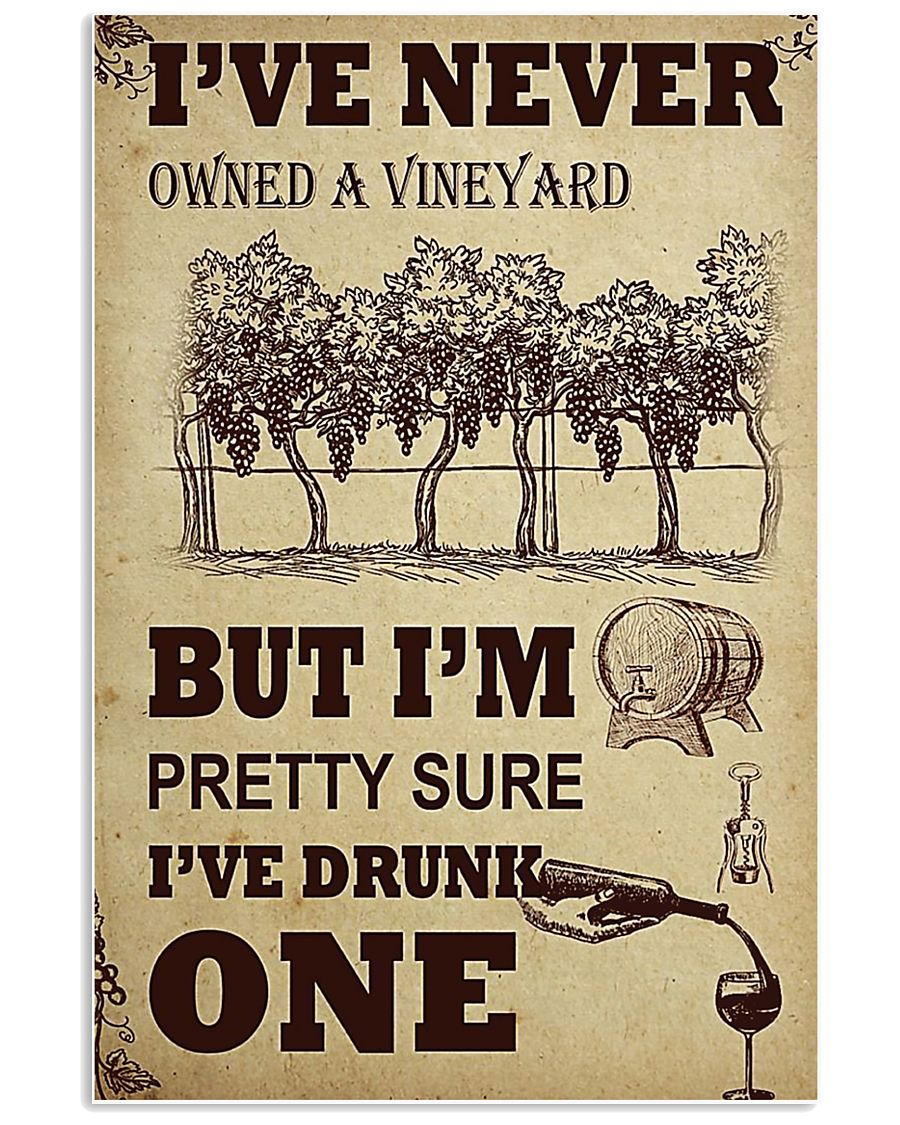 WINE I DRUNK ONE 11x17 Poster