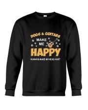 DOGS GUITARS HAPPY Crewneck Sweatshirt thumbnail