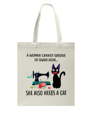 SEWING NEED A CAT Tote Bag thumbnail