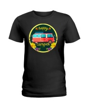 CAMPING HAPPY Ladies T-Shirt thumbnail