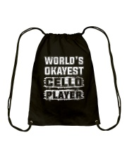 WORLD OKAYEST CELLO Drawstring Bag thumbnail