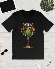 WINE GLASS CHRISTMAS Classic T-Shirt lifestyle-mens-crewneck-front-17