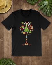 WINE GLASS CHRISTMAS Classic T-Shirt lifestyle-mens-crewneck-front-18
