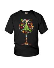 WINE GLASS CHRISTMAS Youth T-Shirt thumbnail