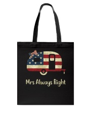 CAMPING ALWAYS RIGHT Tote Bag thumbnail