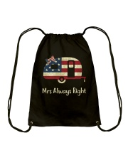 CAMPING ALWAYS RIGHT Drawstring Bag thumbnail