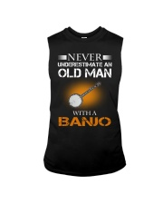 OLD MAN WITH A BANJO Sleeveless Tee tile