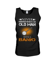 OLD MAN WITH A BANJO Unisex Tank thumbnail