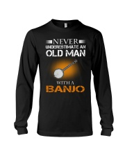 OLD MAN WITH A BANJO Long Sleeve Tee tile