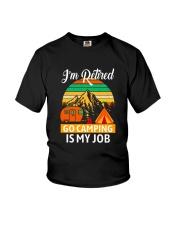 RETIRED CAMPING JOB Youth T-Shirt thumbnail