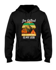 RETIRED CAMPING JOB Hooded Sweatshirt thumbnail