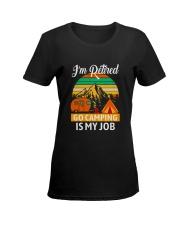 RETIRED CAMPING JOB Ladies T-Shirt women-premium-crewneck-shirt-front