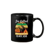 RETIRED CAMPING JOB Mug thumbnail