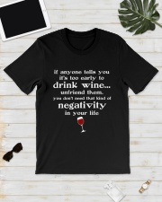 WINE NEGATIVITY Classic T-Shirt lifestyle-mens-crewneck-front-17