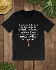 WINE NEGATIVITY Classic T-Shirt lifestyle-mens-crewneck-front-18
