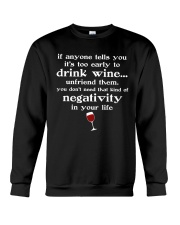 WINE NEGATIVITY Crewneck Sweatshirt thumbnail