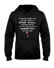 WINE NEGATIVITY Hooded Sweatshirt thumbnail
