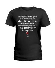 WINE NEGATIVITY Ladies T-Shirt thumbnail