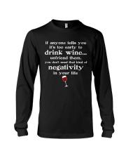 WINE NEGATIVITY Long Sleeve Tee thumbnail