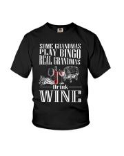REAL GRANDMAS DRINK WINE Youth T-Shirt thumbnail