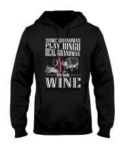 REAL GRANDMAS DRINK WINE Hooded Sweatshirt thumbnail
