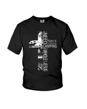 CAMPING JESUS Youth T-Shirt thumbnail