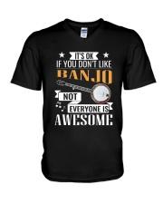 BANJO AWESOME V-Neck T-Shirt thumbnail