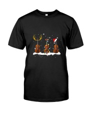 THREE CHRISTMAS UPRIGHTBASS  Classic T-Shirt front