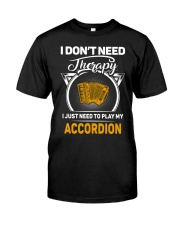 ACCORDION THERAPY Classic T-Shirt front