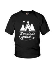 CAMPING SIMPLE Youth T-Shirt tile