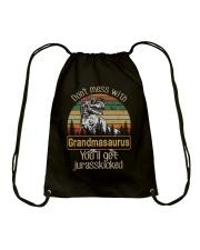 DON'T MESS WITH GRANDMASAURUS Drawstring Bag thumbnail