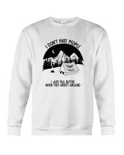 CAMPING DON'T HATE PEOPLE Crewneck Sweatshirt thumbnail