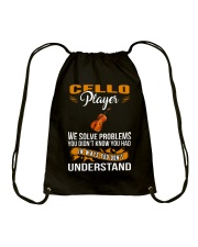 CELLO SOLVE PROBLEMS Drawstring Bag thumbnail
