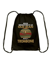 OLD MAN VINTAGE TROMBONE Drawstring Bag thumbnail