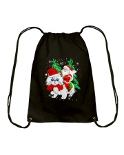 CAT SANTA Drawstring Bag thumbnail