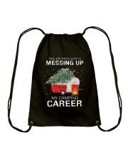 MESSING UP CAMPING Drawstring Bag thumbnail