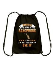 WARNING I HAVE A SAXOPHONE Drawstring Bag thumbnail