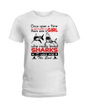SHARK GIRL Ladies T-Shirt front