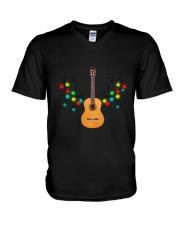 REINDEER CHRISTMAS GUITAR V-Neck T-Shirt thumbnail