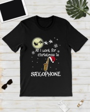 AII I WANT CHRISTMAS IS SAXOPHONE Classic T-Shirt lifestyle-mens-crewneck-front-17
