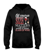 WINE SIZE MATTER Hooded Sweatshirt thumbnail