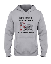 SOME CAMPERS CUSS TOO MUCH WHITE Hooded Sweatshirt thumbnail
