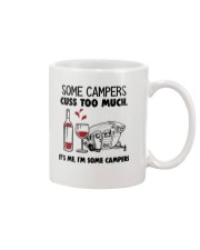 SOME CAMPERS CUSS TOO MUCH WHITE Mug thumbnail